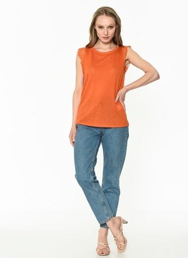Ipekyol Kadın  Bluz IS1190070374 Kahve